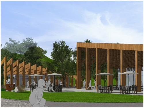 地标性木构辅助长廊项目