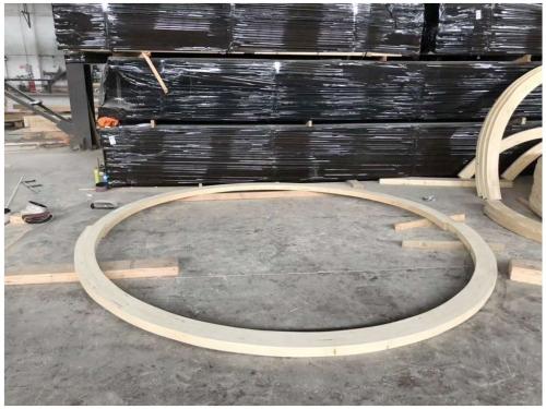 加工定做弧形胶合梁柱、弯曲型胶合木