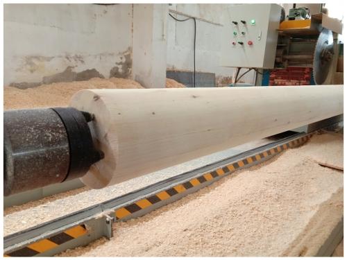 圆柱型胶合木梁柱