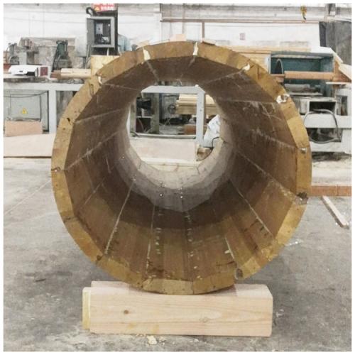 空心圆柱胶合木