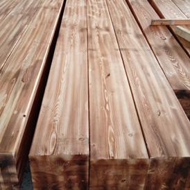 胶合木碳化